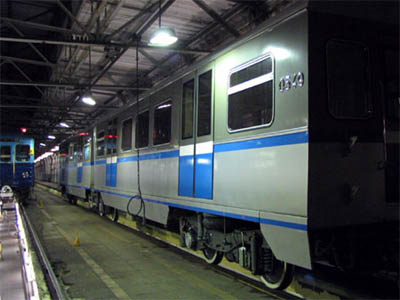 Line 3. Vagon 'Rusich' in depot 'Izmaylovo'. ©Photo V.Sviridenkov, 2006