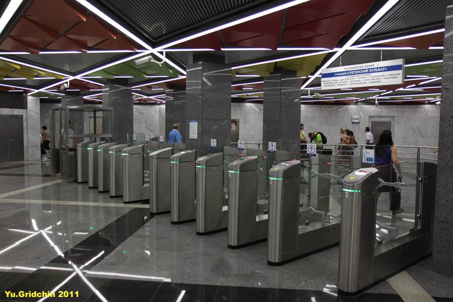 Line 10. Station 'Sretenskiy bulvar', vestibule. ©Photo Yu.Gridchin, 2011
