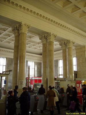 Line 2. Station 'Belorusskaya'. Vestibule. ©Photo Yu.Gridchin, 2006