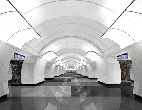 Line 10. Future station 'Butyrskaya'. ©Metrogiprotrans, 2011