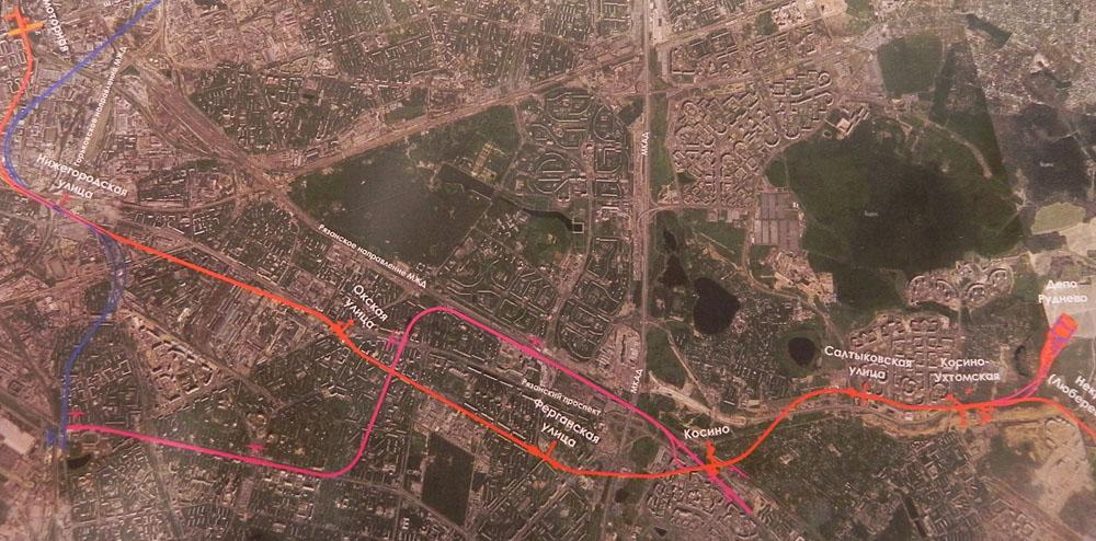 Kozhukhovskaya Line Project, ©Mosinzhstroy, 2012