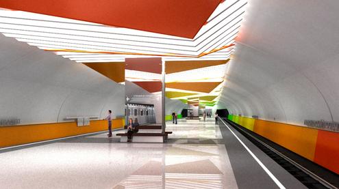 Line 7. Future station 'Lermontovskiy prospekt'. ©Metrogiprotrans, 2011