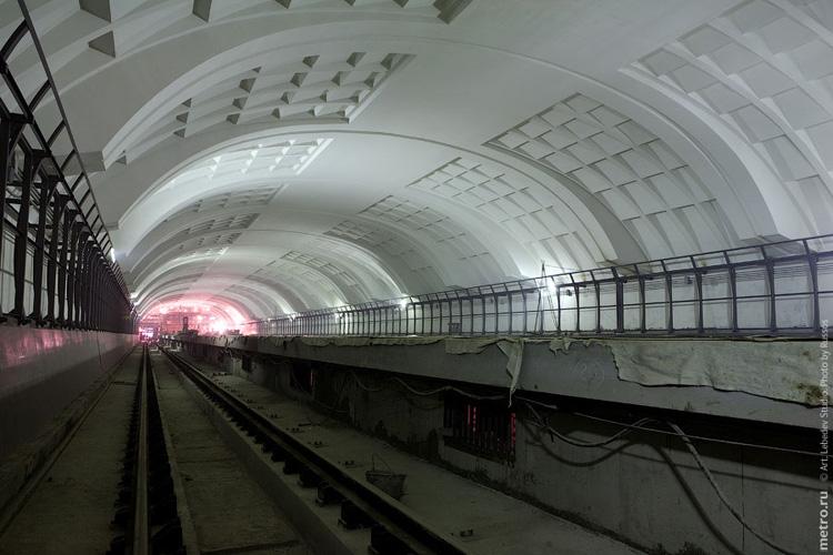 Line 3. Station 'Mitino' (will open 2009). ©Photo A.Popov, Metro.Ru, 2009