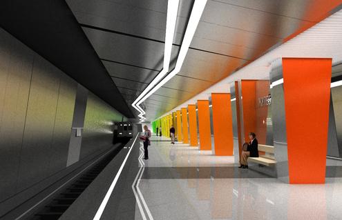 Line 7. Future station 'Zhulebino'. ©Metrogiprotrans, 2011