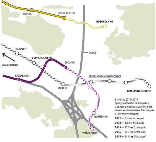 """- Новая линия метро должна оттянуть на себя часть пассажиропотока """".  Новая линия начнется от станции метро..."""