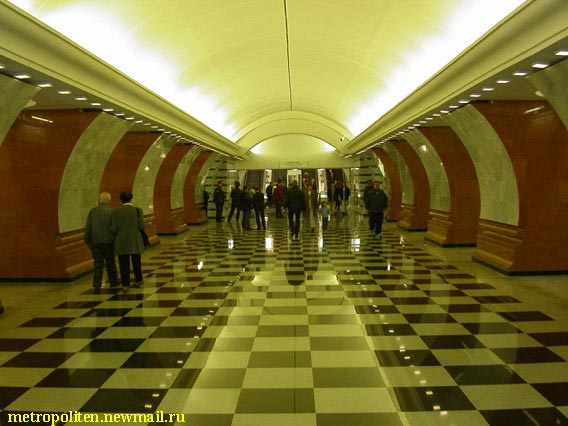 ����� ��� ������� - South hall of station 'Park Pobedy' (Victory Park)