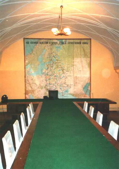 Samara. Stalin's bunker. Conference room - © Photo Yuri Gridchin, 2003