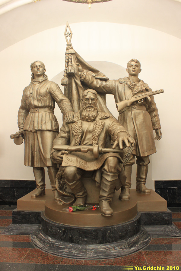 Monument 'Belorussian partisans'. ©Photo Yuri Gridchin, 2010