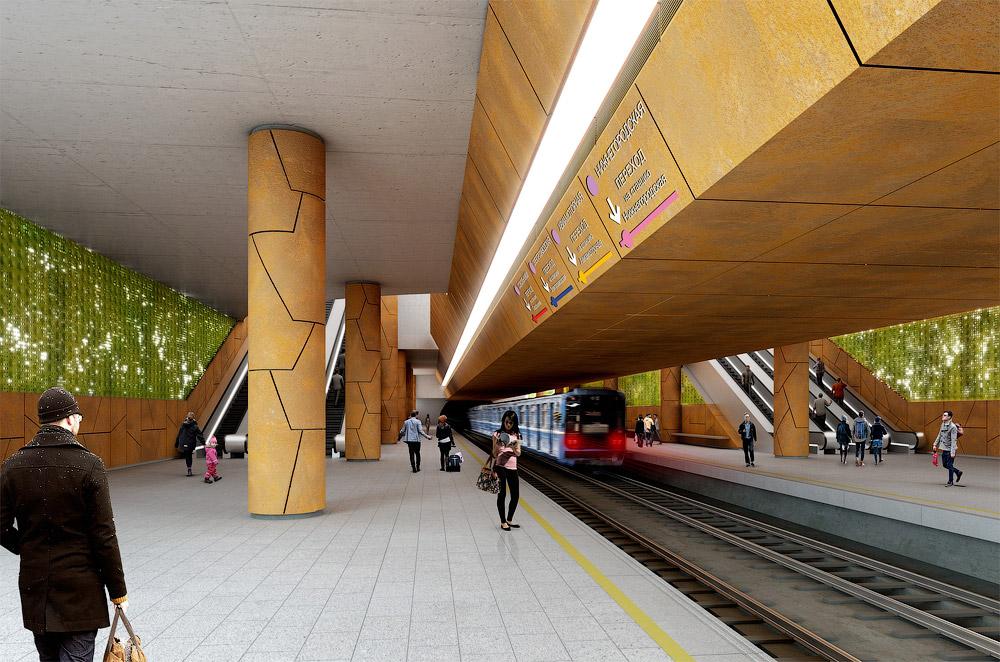 Station 'Sokolniki-2' © Mosinzhproekt, Photo A.Popov, 2015