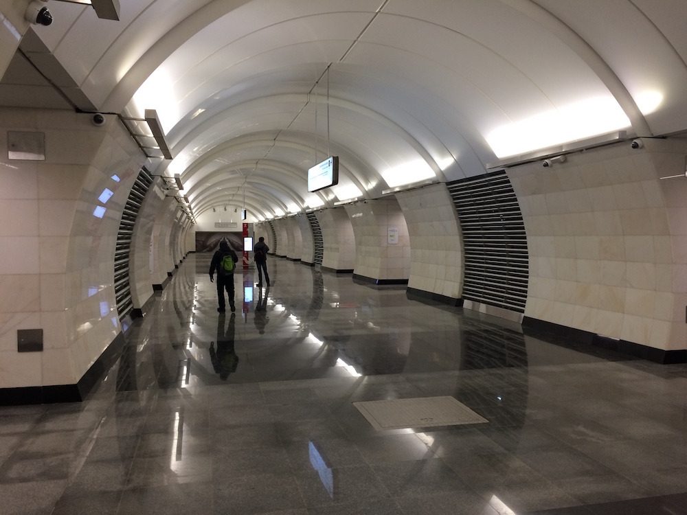 Line 10. Station 'Verkhnie Likhobory' © Yuri Gridchin, 2018