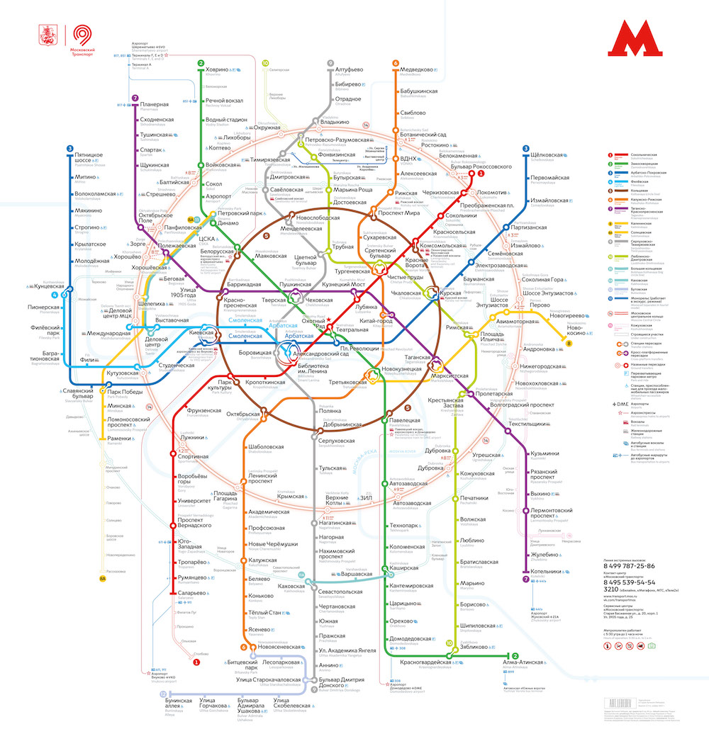 Moscow Metropolitan Schemes And Maps
