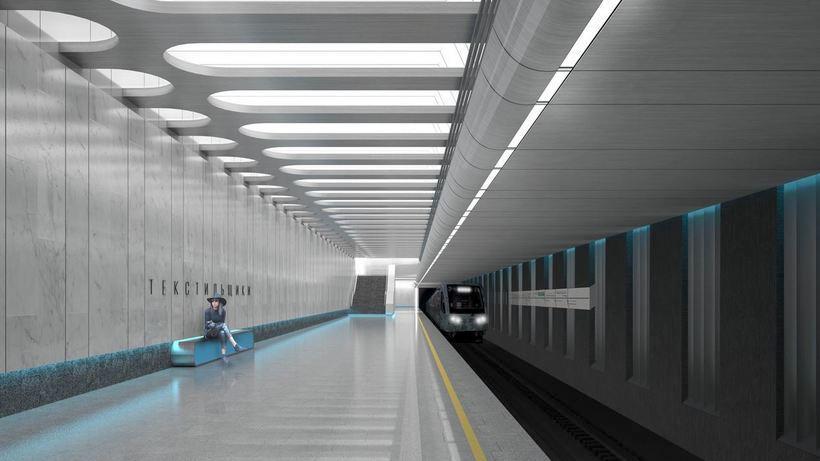 Line 11, Station 'Tekstilschiki' (project) ©Photo АГН Москва, Сергей Ведяшкин, 2019