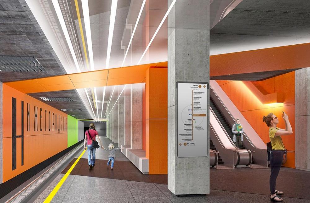 Line 11 & 15. Station 'Nizhegorodskaya' (project) ©Photo Mos.ru, 2019