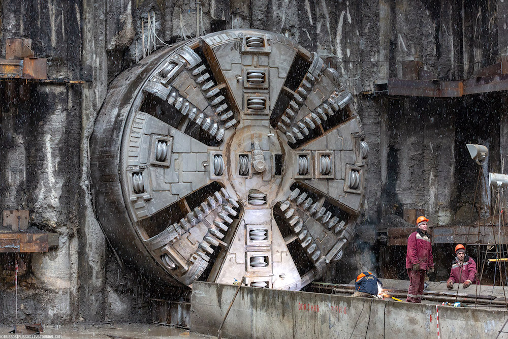 Line 11. Station 'Stromynka'. Boring machine 'Natalya' ©Photo A.Popov (Russos), 2019