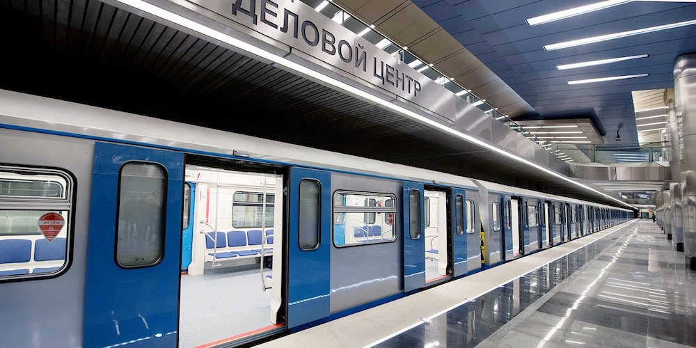 Line 8. Station 'Delovoy centr'. © Photo Mos.ru, 2020