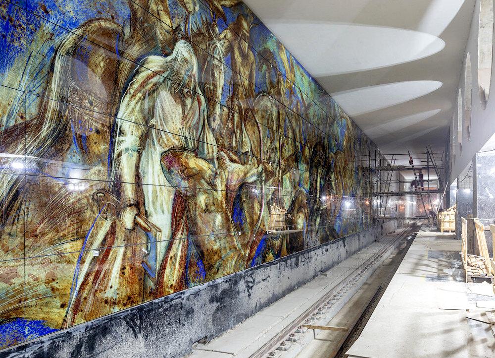Line 11. Future station 'Elektrozavodskaya'. ©Photo A.Popov (Russos), 2020