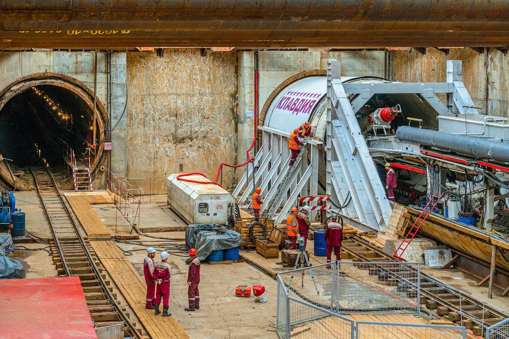 Line 10. Boring machine 'Klavdiya' started to station 'Lianozovo'. ©Photo Mosinzhproekt.ru, 2020