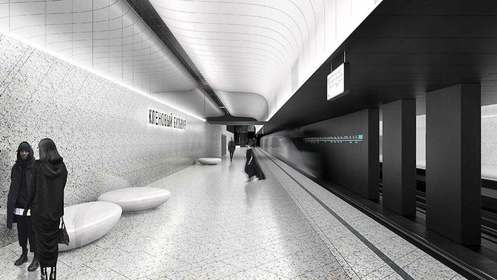 Line 11. Station 'Klenovy bulvar' (project). ©Photo Archslon, Москомархитектура, 2020