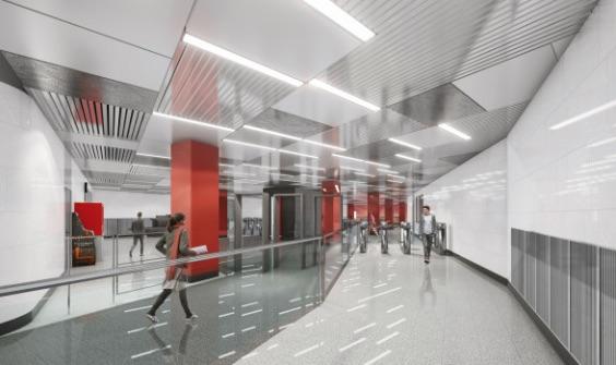 Line 11. Station 'Michurinskiy prospekt' (project), 2021