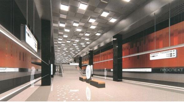 Line 11. Station 'Prospekt Vernadskogo' (project), 2021