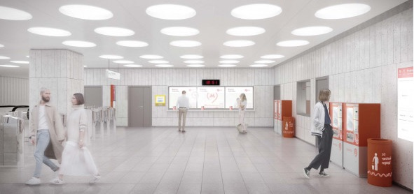 Line 11. Station 'Terekhovo' (project), 2021