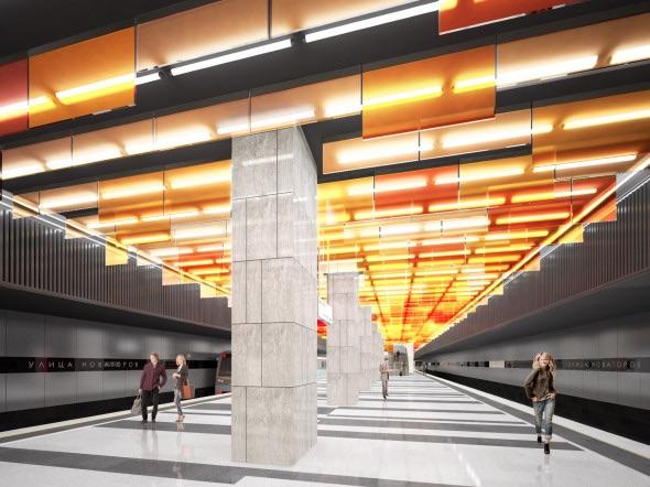Line 11. Station 'Ulitsa Novatorov' (project), 2021