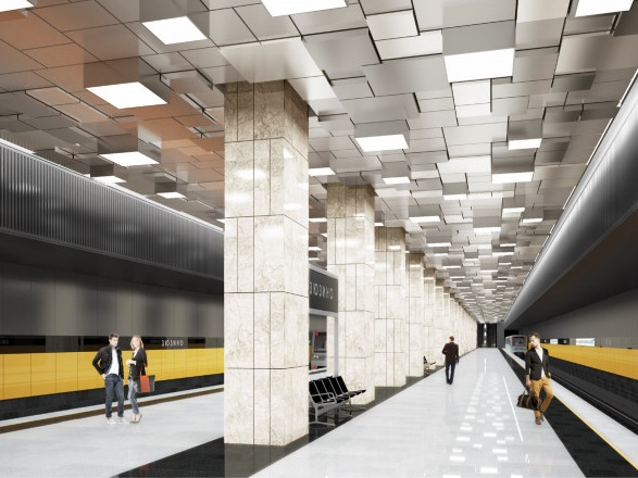 Line 11. Station 'Zyuzino' (project), 2021