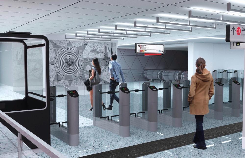 Line 11. Station 'Davydkovo', vestibule (project) © Mos.ru, 2021