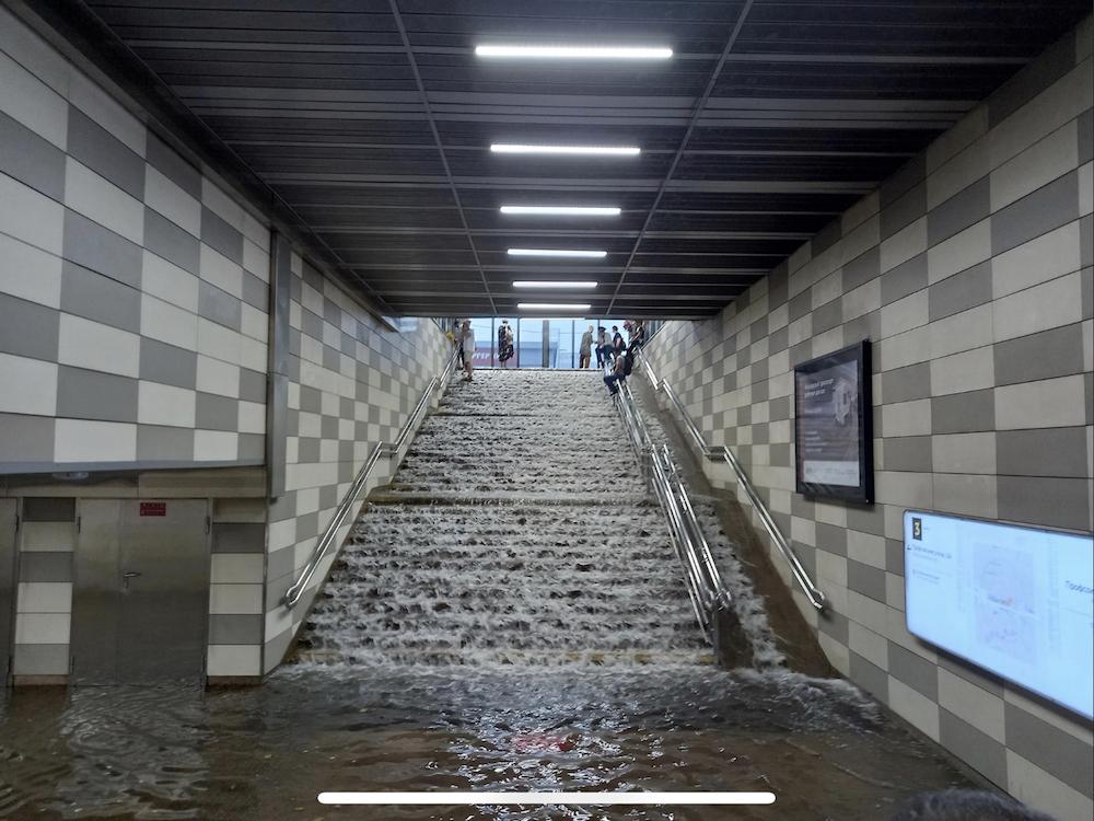 Line 6. Station 'Konkovo', vestibule, 2021