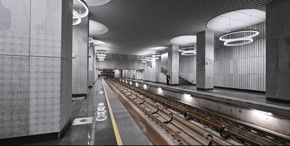 Line 11, station 'Terekhovo' ©Photo М.Колобаев \ Пресс-служба Мэра и Правительства Москвы, 2021